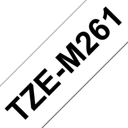 Brother TZe-M261 Matt Laminated Labelling Tape Cassette – Black on White