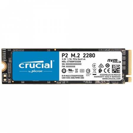 NVMe M.2 2280 SSD диск CRUCIAL P2 500GB CT500P2SSD8