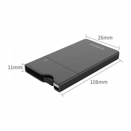"Кутия за 2.5"" SSD/HDD дискове Orico 2668U3-BK USB 3.1 Type-C"