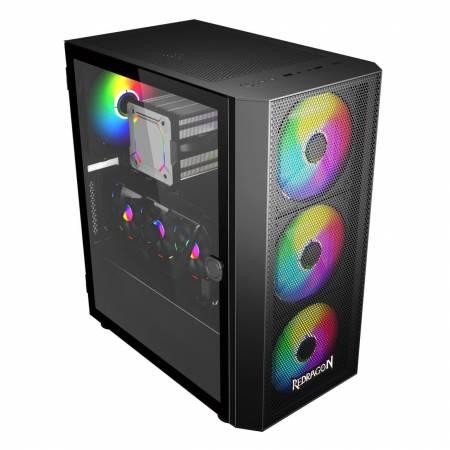 Геймърска кутия за настолен компютър Redragon SkyFire GC-XA216 с прозрачен страничен панел