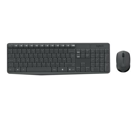 Logitech MK235 Wireless Keyboard and Mouse Combo - Grey - US INTL