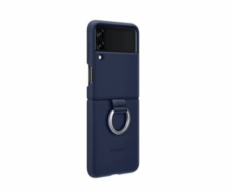 Samsung Galaxy Z Flip3 5G Silicone Cover with Ring Navy