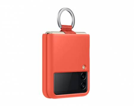 Samsung Galaxy Z Flip3 5G Silicone Cover with Ring Coral