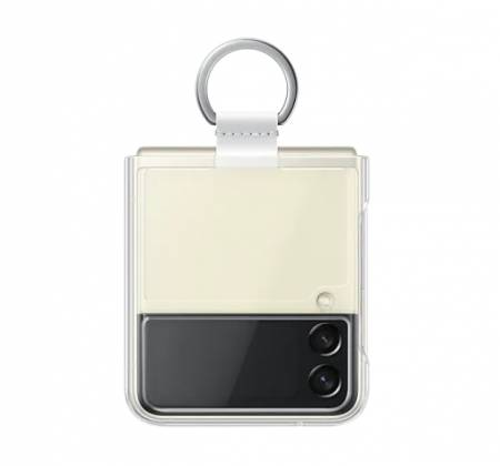 Samsung Galaxy Z Flip3 5G Silicone Cover with Ring Transperant