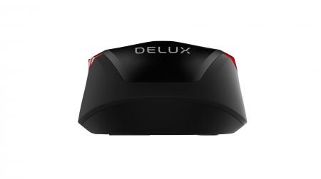 Кабелна оптична мишка Delux M321BU черно-червена