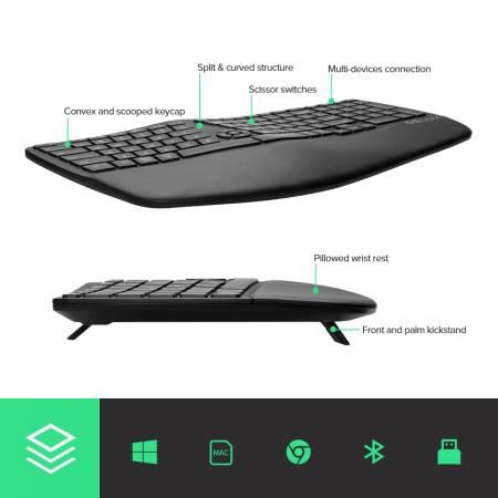 Безжична/Bluetooth клавиатура Delux GM902 черна