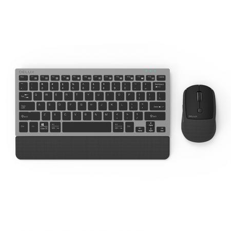Безжичен/Bluetooth комплект клавиатура и мишка Delux K3300D+M520DB черен