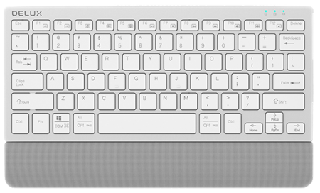 Безжична/Bluetooth клавиатура Delux K3300D сребриста