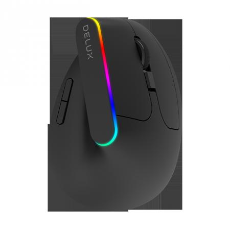 Безжична/Bluetooth вертикална мишка Delux M618DB