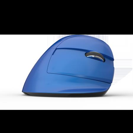 Безжична/Bluetooth вертикална мишка Delux M618mini+G19UF Pearl Blue