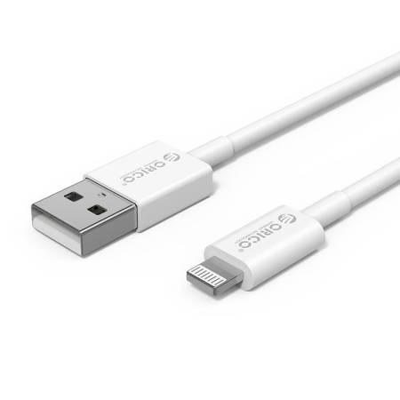 Кабел USB Type-A към Lightning Orico AL01-10-WH 1 метър бял