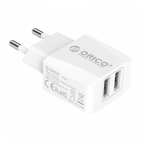 2-портово USB зарядно устройство Orico CG10-2U-EU-WH