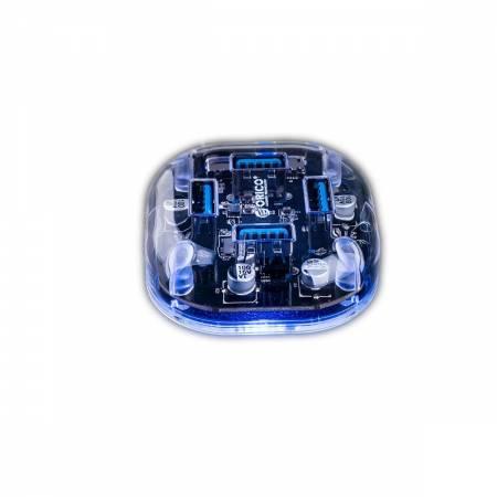 4-портов прозрачен USB 3.0 хъб Orico H4U-U3-CR