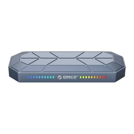 NVMe M.2 SSD кутия за диск Orico M2VG01-C3-GY с RGB подсветка USB Type-C