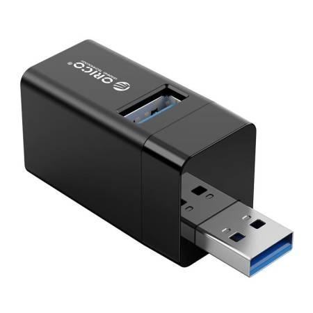 Мини USB хъб 3 в 1 Orico MINI-U32-BK