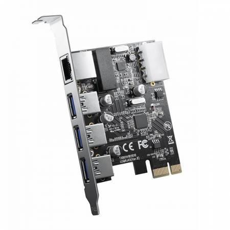 PCI-e адаптер Orico PNU-3A1R-BK USB 3.0