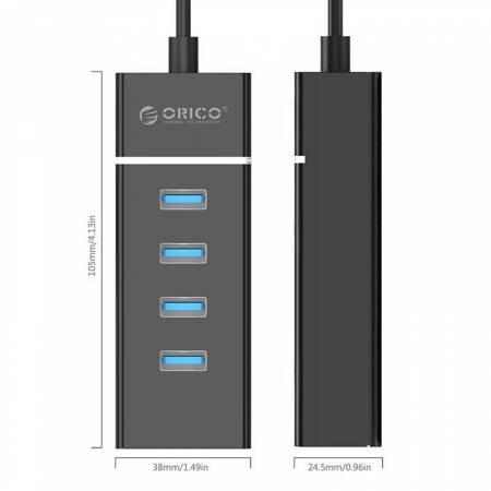 4-портов USB 3.0 хъб Orico W6PH4-U3-V1-BK