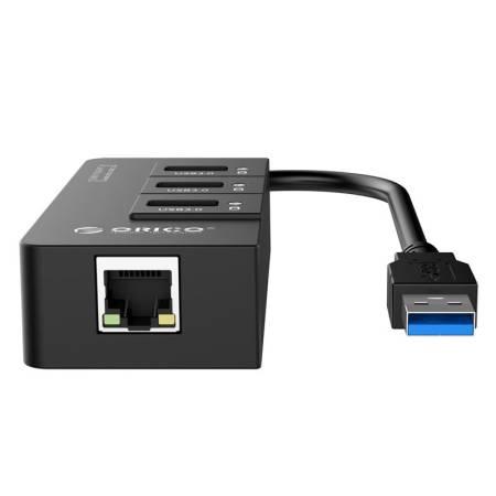 3-портов USB 3.0 хъб Orico HR01-U3-V1-BK-PRO