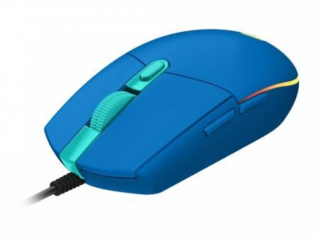 Logitech G203 LIGHTSYNC Gaming Mouse - Blue - USB - N/A - EMEA - G203 LIGHTSYNC Gaming PC Group
